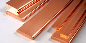 A group of brushed copper plate